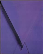 「紫のフォルム B(1974)」油彩・キャンバス 162×130cm