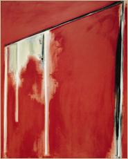 「長方形 赤(1982)」アクリリック・キャンバス 213×168cm