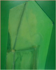 「長方形 緑(1982)」アクリリック・キャンバス 213×162cm
