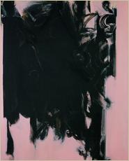 「黒衣のイメージ(1987)」アクリリック・キャンバス 213×162.5cm