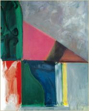 「門のイメージ 緑と紅(1991)」アクリリック・キャンバス 213.4×167.6cm