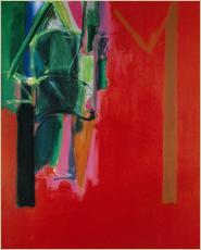 「門のイメージ 赤(1992)」アクリリック・キャンバス 218.5×167.6cm