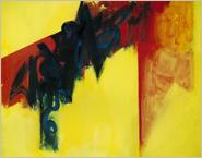 「門のイメージ 黄(1987〜1988)」アクリリック・キャンバス 213.5×168cm
