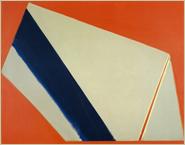「赤の中のフォルム(1972)」アクリリック・キャンバス 172.3×213.3cm