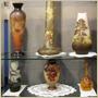 ガレの花器及びラリック、ウースター製置物